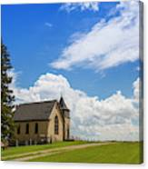 Church On A Hill In A Rural Setting Canvas Print