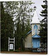 Church On Alaskan Highway Canvas Print