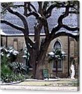 Church On Rosedale With A Dusting Of Snow Canvas Print