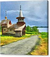 Church On The Road Canvas Print