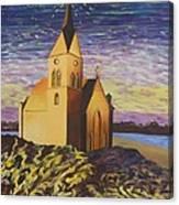 Church On The Rocks.  Canvas Print