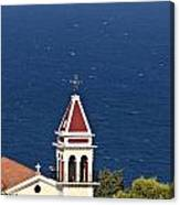 Church On The Top Of The Bohali Hill In Zakynthos Greece  Canvas Print