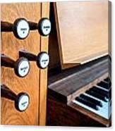 Church Organ Keyboard Canvas Print