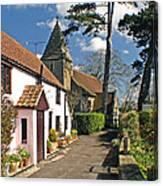 Church Path - Kenn - Somerset Canvas Print