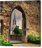 Church Ruins In Boppard Germany Canvas Print