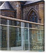 Church Seen Through A Transperant Screen  Canvas Print