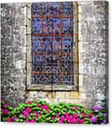 Church Window In Brittany Canvas Print