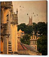 Churches In Town Canvas Print