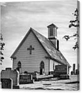 Churchyard Bw Canvas Print