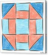 Churn Dash Block Canvas Print