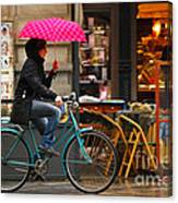 Ciclista - Milano Canvas Print