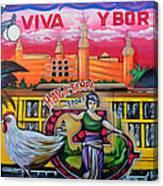 Cigar City Street Mural Canvas Print