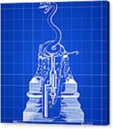 Cigar Lighter Patent 1888 - Blue Canvas Print