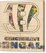 Cincinnati Bengals Logo Vintage Canvas Print