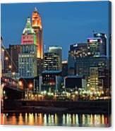 Cincinnati Blue Hour Canvas Print