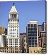 Cincinnati Downtown City Buildings Business District Canvas Print