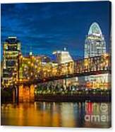 Cincinnati Downtown Canvas Print