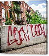 Cincinnati Glencoe Hole Graffiti Picture Canvas Print