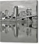 Cincinnati Monochrome Canvas Print