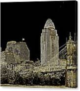 The Queen City Cincinnati Ohio Canvas Print