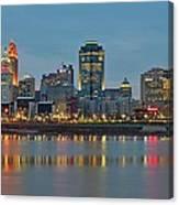 Cincinnati On The Riverfront Canvas Print