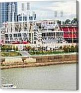 Cincinnati Riverfront 9870 Canvas Print