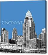 Cincinnati Skyline 1 - Slate Canvas Print