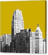 Cincinnati Skyline 2 - Gold Canvas Print