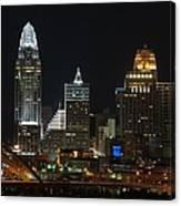 Cincinnati Skyline At Night Canvas Print