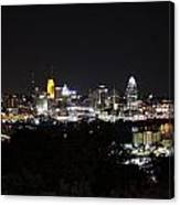 Cincinnati Skyline At Night From Devou Park Canvas Print