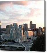 Cincinnati Skyline At Sunset Form The Top Of Mount Adams 2 Canvas Print