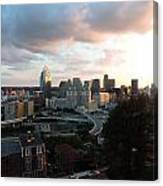 Cincinnati Skyline At Sunset Form The Top Of Mount Adams Canvas Print