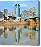 Cincinnati Skyline Reflects Canvas Print