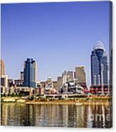 Cincinnati Skyline Riverfront Downtown Office Buildings Canvas Print