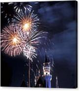 Cinderella Castle Fireworks Iconic Fairy-tale Fortress Fantasyland Canvas Print