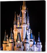 Cinderella's Castle In Magic Kingdom Canvas Print
