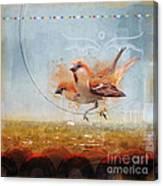 Cinnamon Sparrows Canvas Print