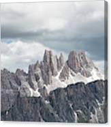 Cinque Torri Area In The Dolomites Canvas Print