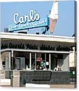 Circa 1940s Carls Ice Cream Canvas Print