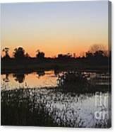 Circle B Winter Sunset Canvas Print