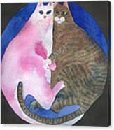 Circle Cats Canvas Print