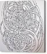 Circle On Circle Canvas Print