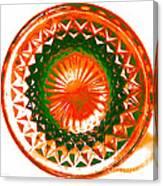 Circle Orange Canvas Print