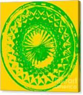 Circle Yellow Canvas Print