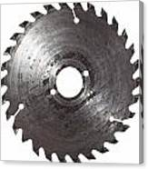 Circular Saw Blade Isolated On White Canvas Print