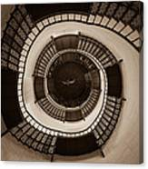 Circular Staircase In The Granitz Hunting Lodge Canvas Print