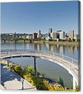 Circular Walkway On Portland Eastbank Esplanade Canvas Print