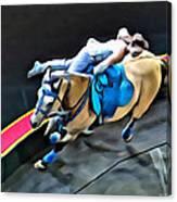 Circus Horse Trickster Canvas Print