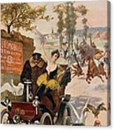 Circus Star Kidnapped Wilhio S Poster For De Dion Bouton Cars Canvas Print