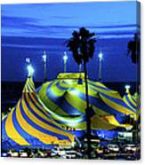 Circus Tent Swirls Of Blue Yellow Original Fine Art Photography Print  Canvas Print